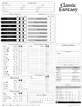 picture regarding Printable Character Sheet referred to as The Design and style System