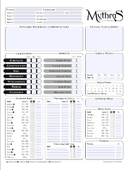 graphic regarding Printable Character Sheet called The Style and design System